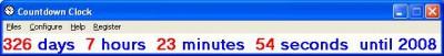 Countdown Clock 1.1 screenshot