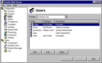 Courier Mail Server 3.09 screenshot