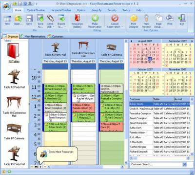 CozyRestaurant Reservation for Workgroup 4.5 screenshot