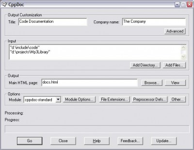 CppDoc 2.4 screenshot