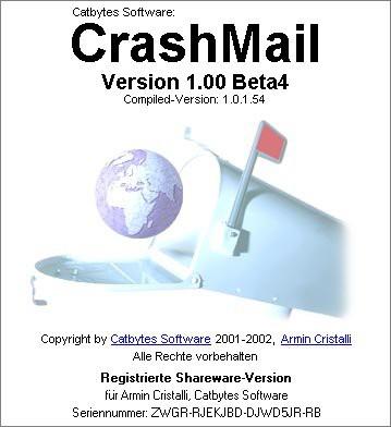 CrashMail 1.00 Beta4 screenshot