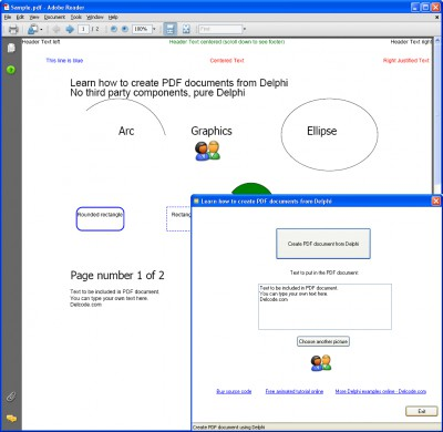 Create PDF from Delphi 1.5 screenshot