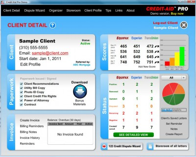 Credit-Aid Pro Business Suite 8.1.6 screenshot