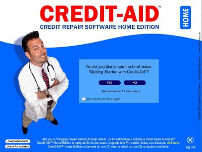 Credit-Aid Software (credit repair) Home Edition 7.0.1 screenshot