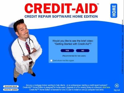 Credit-Aid Software (credit repair) Home Edition 7.0.1 screenshot