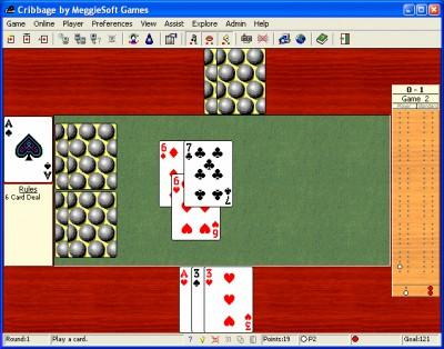 Cribbage by MeggieSoft Games 2008 screenshot