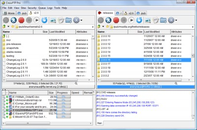 CrossFTP 1.97.9 screenshot
