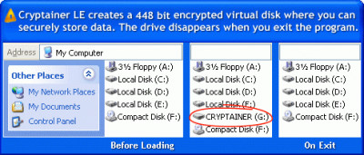 Cryptainer LE Free Encryption Software 12.2.0.0 screenshot