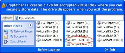 Cryptainer LE Gratis Verschlusselung Software 10.0.0 screenshot