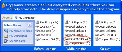 Cryptainer PE Encryption Software 7.2.3 screenshot