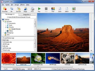 CryptaPix 3.10 screenshot