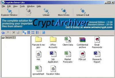 CryptArchiver 3.1.0.0 screenshot