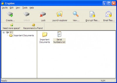Cryptex - 6 GB Vault 2 screenshot