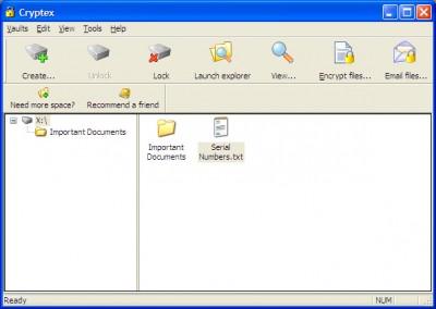 Cryptex - 60 GB Vault 2 screenshot