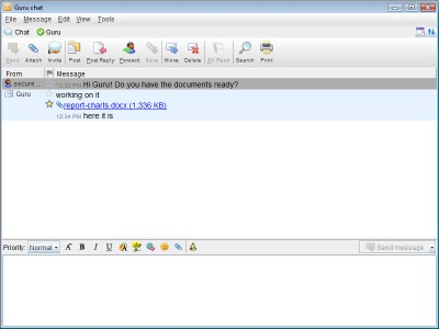 CryptoHeaven Instant Messaging 3.6 screenshot
