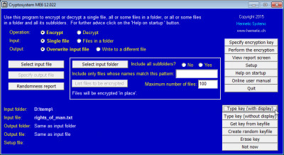 Cryptosystem ME6 13.04 screenshot