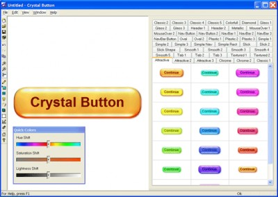 Crystal Button 2007 3.0 screenshot
