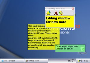 CS Desktop Notes 3.6 screenshot