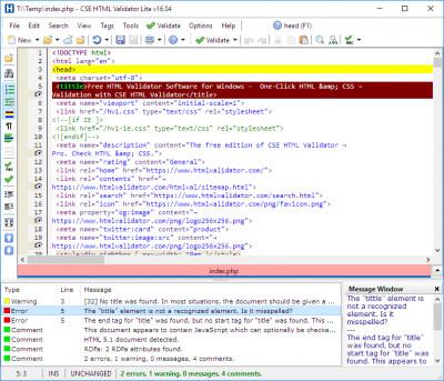 CSE HTML Validator Lite 16.05 screenshot