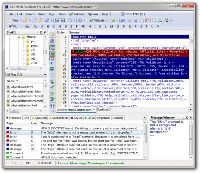 CSE HTML Validator Pro 17.0500 screenshot