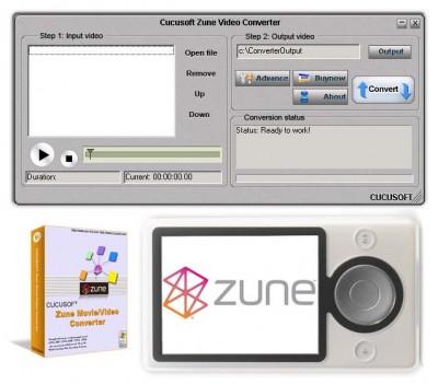 CUCUS0FT - Zune Movie/Video Converter 6.37 screenshot
