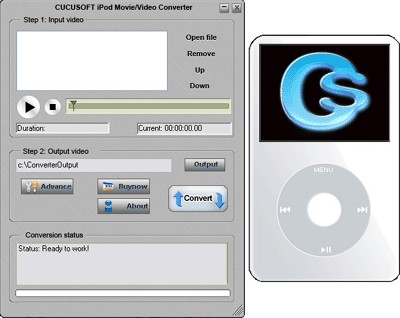 Cucusoft iPod Movie/Video Converter 4.243 screenshot