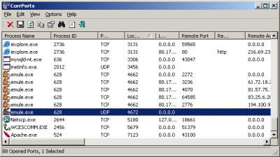 CurrPorts 2.51 screenshot