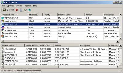 CurrProcess 1.13 screenshot