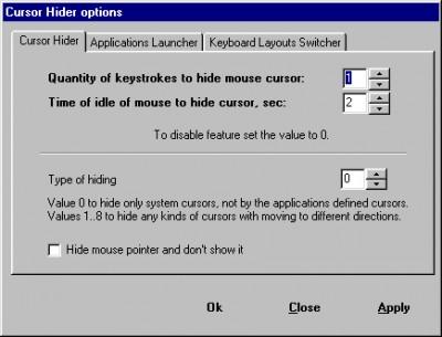 Cursor Hider 1.8.9.17 screenshot