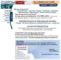 CustomChat Server 1.5 screenshot