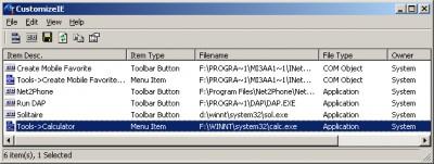 CustomizeIE 1.01 screenshot