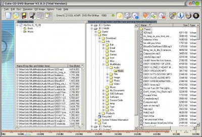 Cute CD DVD Burner 6.1.9 screenshot