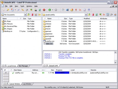 Cute FTP Pro 7.1 screenshot
