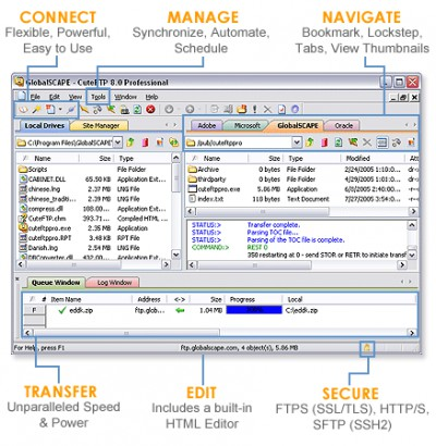 Cute FTP Professional 8.3.4 screenshot