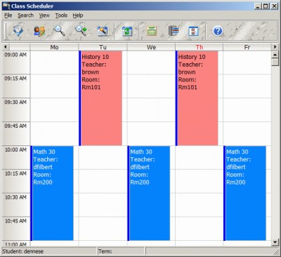 CyberMatrix Class Scheduler 6.04 screenshot