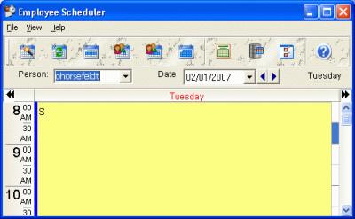 CyberMatrix Employee Scheduler 3.01 screenshot