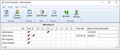 CyberMatrix In Out Scheduler 4.00 screenshot