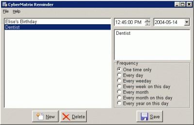 CyberMatrix Reminder 1.00 screenshot