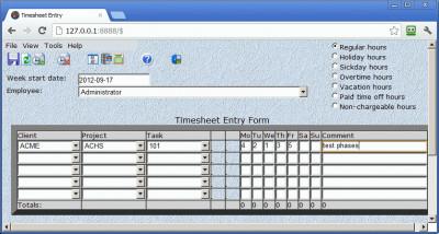 CyberMatrix Timesheets Web 5.01 screenshot