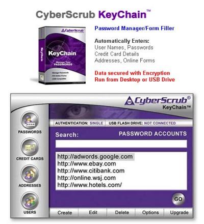 CyberScrub KeyChain 1.31 screenshot