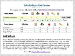 Daily Diabetes Diet Counter 1.6 screenshot