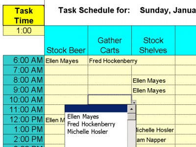 Daily Shifts and Tasks for 25 Employees 3.98 screenshot