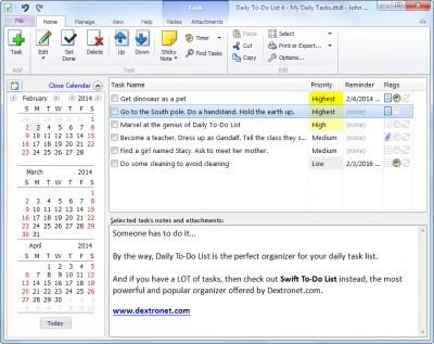 Daily To-Do List 4.522 screenshot