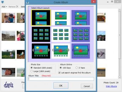 Dans Web Album 1.0.0.58 screenshot