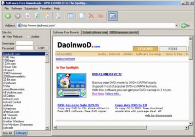 Daolnwod Software Submitter 1.5 screenshot