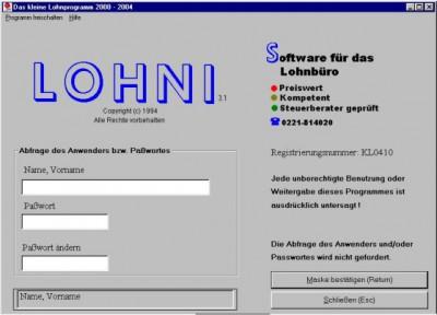 Das kleine Lohnprogramm 3.88 screenshot