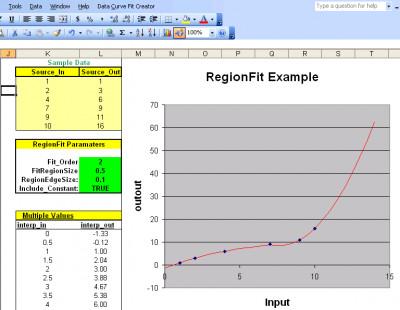 Data Curve Fit Creator Add-in 2.70 screenshot
