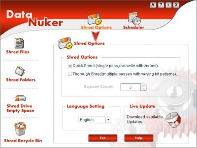 Data Nuker 2.0.0.0 screenshot