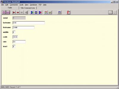 Database Assistant 4.1 screenshot