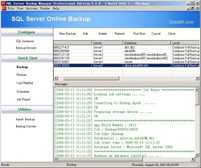 DataBK SQL Server Backup 12.18.12 screenshot